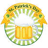 glass of fine beer for St. Patrick`s day