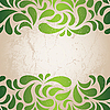 Vector clipart: Green vintage wallpaper