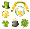 St Patrick `s Day zestaw ikon | Stock Vector Graphics