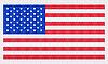Vector clipart: the USA flag