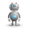 Vector clipart: Cartoon Robot