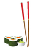 Vector clipart: sushi and chopsticks