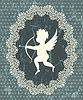Vector clipart: Cupid medallion