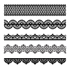 Vector clipart: Seamless lace set
