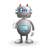 Vector clipart: Cartoon Robot