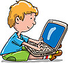 Photo 300 DPI: boy with the laptop