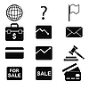 Vector clipart: set of business icons