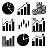 Graph icons | Stock Vector Graphics