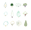 Vector clipart: Tree design elements