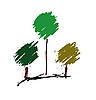 Vector clipart: stylized trees