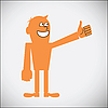 Vector clipart: Gesturing Thumbs Up