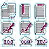 Векторный клипарт: двухцветные иконки