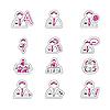Векторный клипарт: двухцветные иконки - человечки