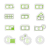 Vector clipart: Money duoton icons