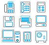 Векторный клипарт: Офисные двухцветные иконки