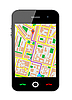 Vector clipart: Cellphone with GPS