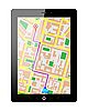 Vector clipart: Tablet PC with GPS