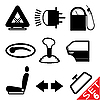 Car part icon set | Stock Vector Graphics