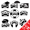 Vector clipart: Car part icon set 13