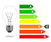Vector clipart: Energy efficiency light bulb