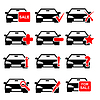 Vector clipart: Car icon