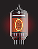 Vector clipart: Nixie radio tube