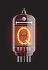Vector clipart: Nixie tube indicator