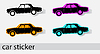 Car sticker icons