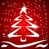 Vector clipart: Red Christmas background