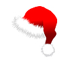Vector clipart: Red Santa Claus Hat