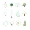 Vector clipart: Tree design elements