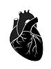 Векторный клипарт: Черное сердце