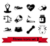 Fitness icon  | Stock Vector Graphics