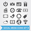 Vector clipart: Social media icons set
