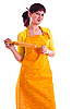 Photo 300 DPI: housewife with rolling-pin