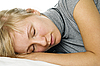 Sleeping young woman | Stock Foto