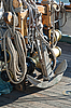 Photo 300 DPI: Anchor and rope on ship deck
