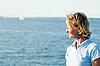 Frau und das Meer | Stock Foto