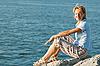 Kobieta i morze | Stock Foto