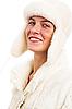 Portret młodej kobiety w zimowe ubrania | Stock Foto