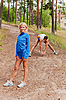 Sportsmen. The young man and the girl | Stock Foto