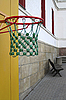 Basketball hoop in the empty school yard | Stock Foto