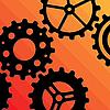 Vector clipart: Five Gearwheels