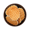Waffles In The Bowl, Top View | Stock Foto