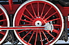 Wheels of the old steam locomotive | Stock Foto
