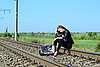 Railway girl | Stock Foto