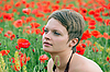 Girl in the poppies | Stock Foto
