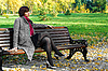 Girl in the park on bench | Stock Foto