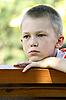 Photo 300 DPI: Sight of the boy at bench