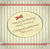 Vector clipart: Vintage birthday card